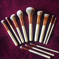 Spectrum Collections Brushes - Marbleous 12PC Set - White and Rose Gold